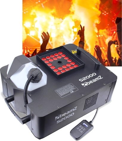 BeamZ S2000 Smokemachine DMX LED 24 x 3W